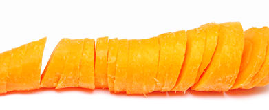 Affetta la carota Fotografia Stock
