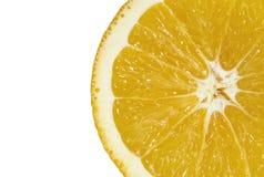 Affettato della fine arancio succosa su fotografia stock