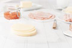 Affettato di formaggio Fotografia Stock Libera da Diritti