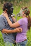 Affetto nei periodi pericolosi. Immagini Stock Libere da Diritti
