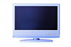 Affichage à cristaux liquides bleu TV Photo stock