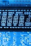 Affichage à cristaux liquides de micro-onde photo libre de droits