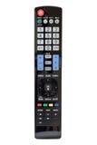 Affichage à cristaux liquides moderne TV à télécommande Image stock