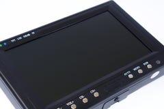 Affichage à cristaux liquides noir TV sur le fond blanc Image stock