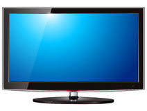 Affichage à cristaux liquides TV Image stock