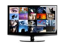 Affichage à cristaux liquides TV Images libres de droits