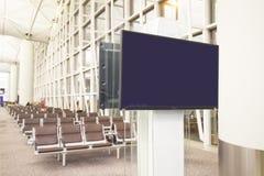 Affichage à cristaux liquides TV avec l'espace vide de copie Image stock