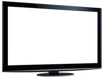 Affichage à cristaux liquides TV et écran blanc XXL + chemin de coupure illustration de vecteur