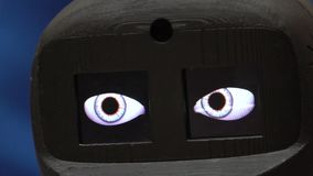 Affichage à cristaux liquides, yeux d'affichage à cristaux liquides de modèle en bois de robot, intelligence artificielle