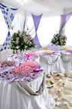 Affichage élégant de nourriture de réception Image stock