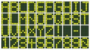 Affichage électronique de tableau indicateur Images libres de droits