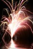 Affichage 4 de feux d'artifice Photo stock
