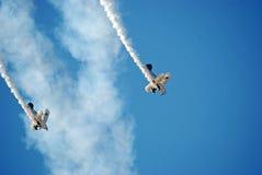 Affichage acrobatique aérien d'aéronefs de propulseur Photos stock