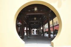 Affichage architectural de la cour de Jade Buddha Temple à Changhaï photo stock