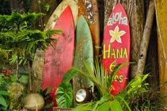Affichage bienvenu sur la route à Hana Images libres de droits