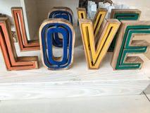 Affichage coloré d'amour de mot Photos libres de droits