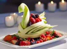Affichage décoratif de fruit images libres de droits