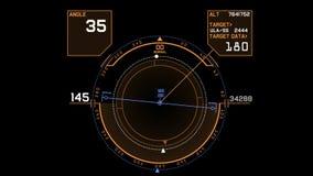 affichage d'écran de technologie de signal de GPS du radar 4k, navigation d'ordinateur de données de la science fiction de la sci
