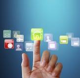 Affichage d'écran tactile Photos stock