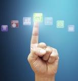 Affichage d'écran tactile Image stock