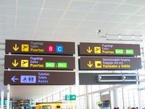 Affichage d'aéroport de Malaga Images stock