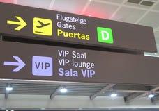 Affichage d'aéroport de Malaga Photos libres de droits