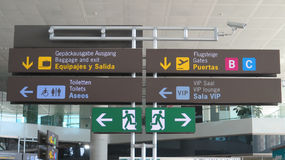 Affichage d'aéroport de Malaga Image stock