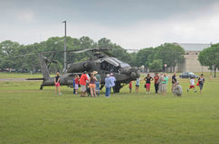 Affichage d'hélicoptère de combat d'Apache Images stock