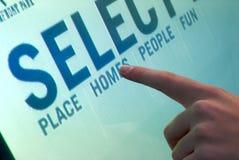 Affichage d'ordinateur interactif Image libre de droits