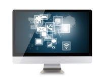 Affichage d'ordinateur moderne Photo stock