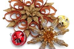 Affichage d'ornement de Noël Photo libre de droits