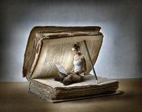 Affichage d'un livre Photo libre de droits