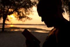 Affichage dans le coucher du soleil Images libres de droits