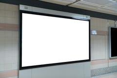 Affichage de bannière de promotion de LED fin papier sur le mur d'intérieur, advertisin photographie stock