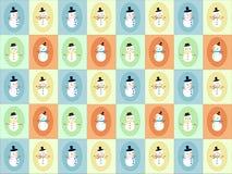 Affichage de bonhomme de neige Photos stock