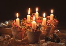Affichage de bougie de Noël Image stock