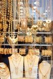 Affichage de boutique d'or de Doha Image libre de droits