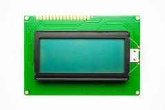 Affichage de caractère vert de LED Image stock