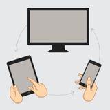 Affichage de démonstration d'un téléphone portable Photographie stock libre de droits
