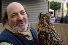 Affichage de fauconnerie Photographie stock libre de droits