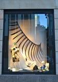 Affichage de fenêtre au bon homme de Bergdorf dans NYC Photo libre de droits