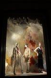Affichage de fenêtre au bon homme de Bergdorf, NYC Photos stock