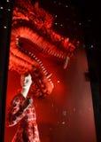 Affichage de fenêtre au bon homme de Bergdorf, NYC Image stock