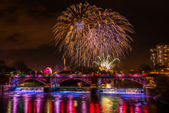 Affichage de feu d'artifice chez Glasgow Green Images stock