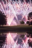 Affichage de feux d'artifice de terrain de golf Photo libre de droits