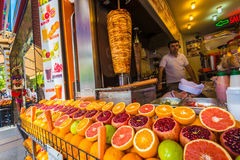 Affichage de fruit à Istanbul Image libre de droits