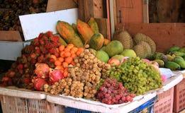 Affichage de fruit tropical Images libres de droits