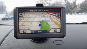 Affichage de GPS Images libres de droits