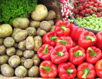 Affichage de légume frais Image libre de droits