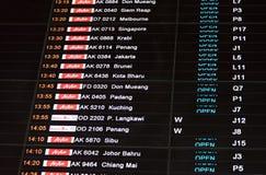 Affichage de l'information de vol Photos stock